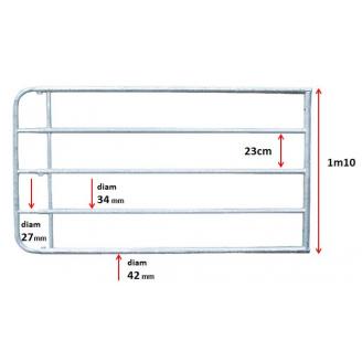 Barrière extensible 1M45/2M00