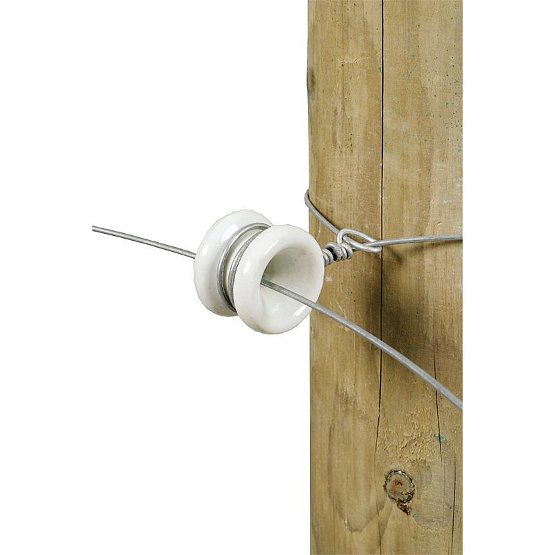 Isolateur de poulie d'angle porcelaine (les 3)