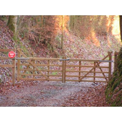Barrière à crosse droite - 2.10m